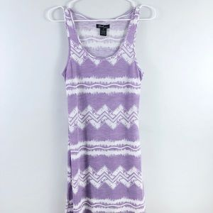 Bohemian Lavender Aztec Dress/Cover up Small